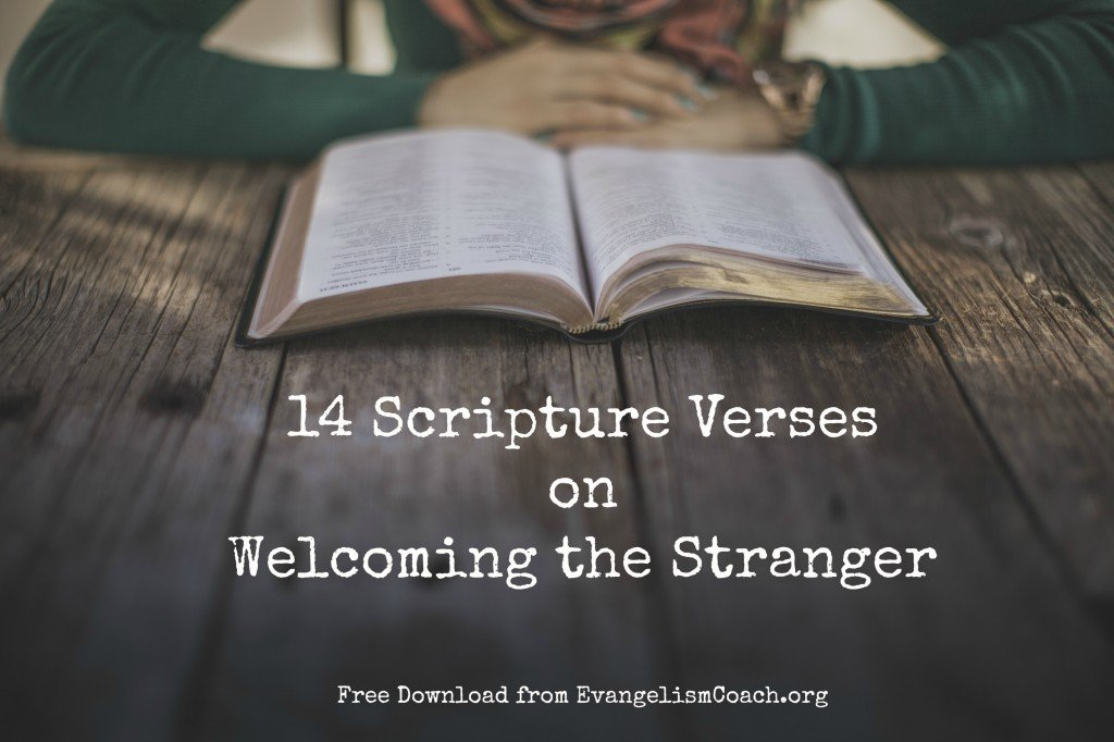 14 bible verses on welcoming the stranger negle Images