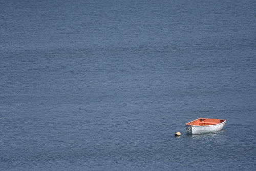 Solitary Rowboat in Digby, NS