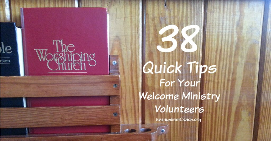38 Quick Church Hospitality Tips