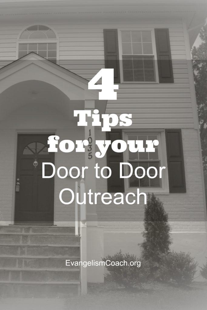 4 Tips for your next Door to Door Evangelism Campaign