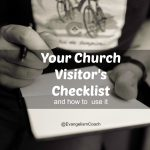 Your church visitor has a list