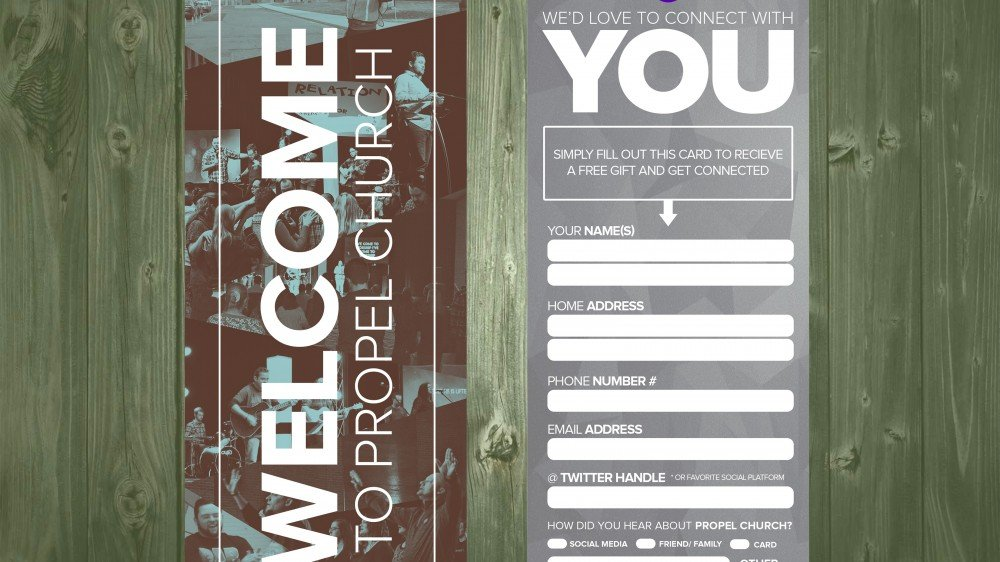 Church Connection Card Template 5