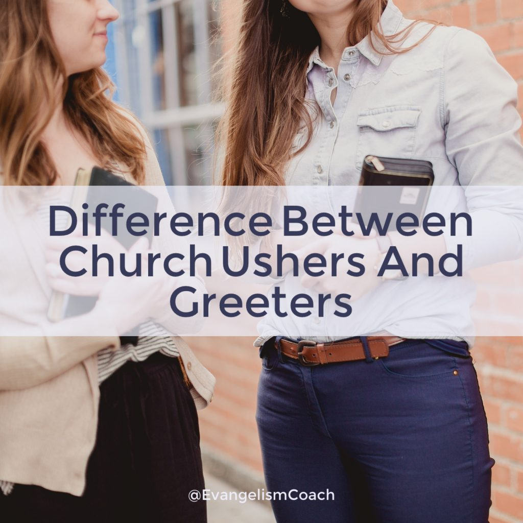 Ministry of Church Usher: Other than serving location, the difference between a church usher and church greeter is one of scope of roles.