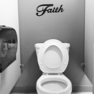 Church Bathrooms that would make your mother proud: Faith over Toilet
