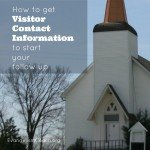 How to Get Church Visitor Contact Information