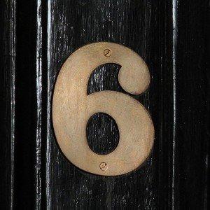 Number6OnBlack