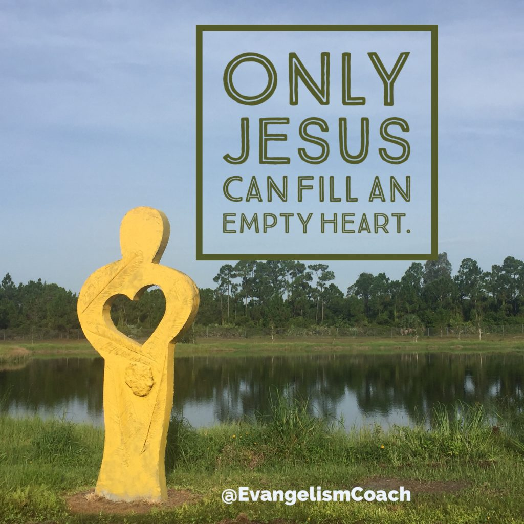 Spiritual Thirst reveals that Only Jesus can fill the empty heart.