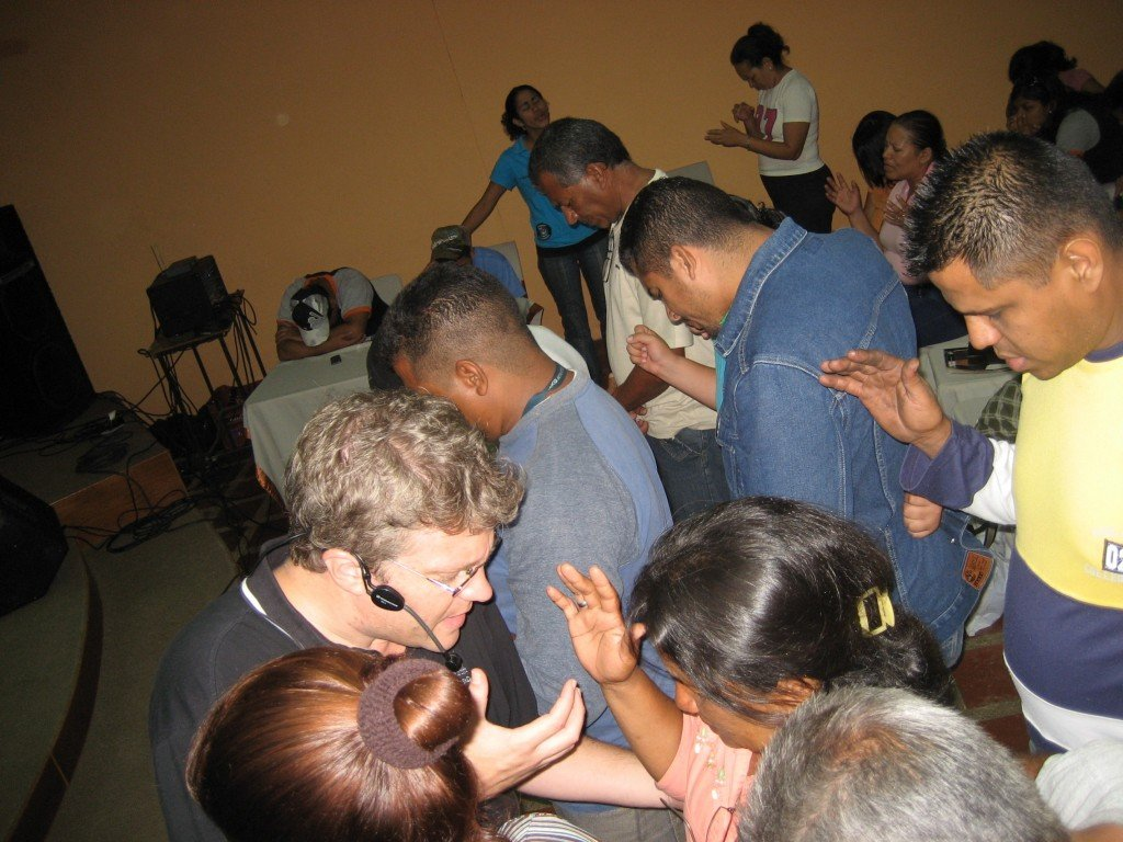 Ministry in Power of the Spirit.  How I gave an altar call while evangelistically preaching